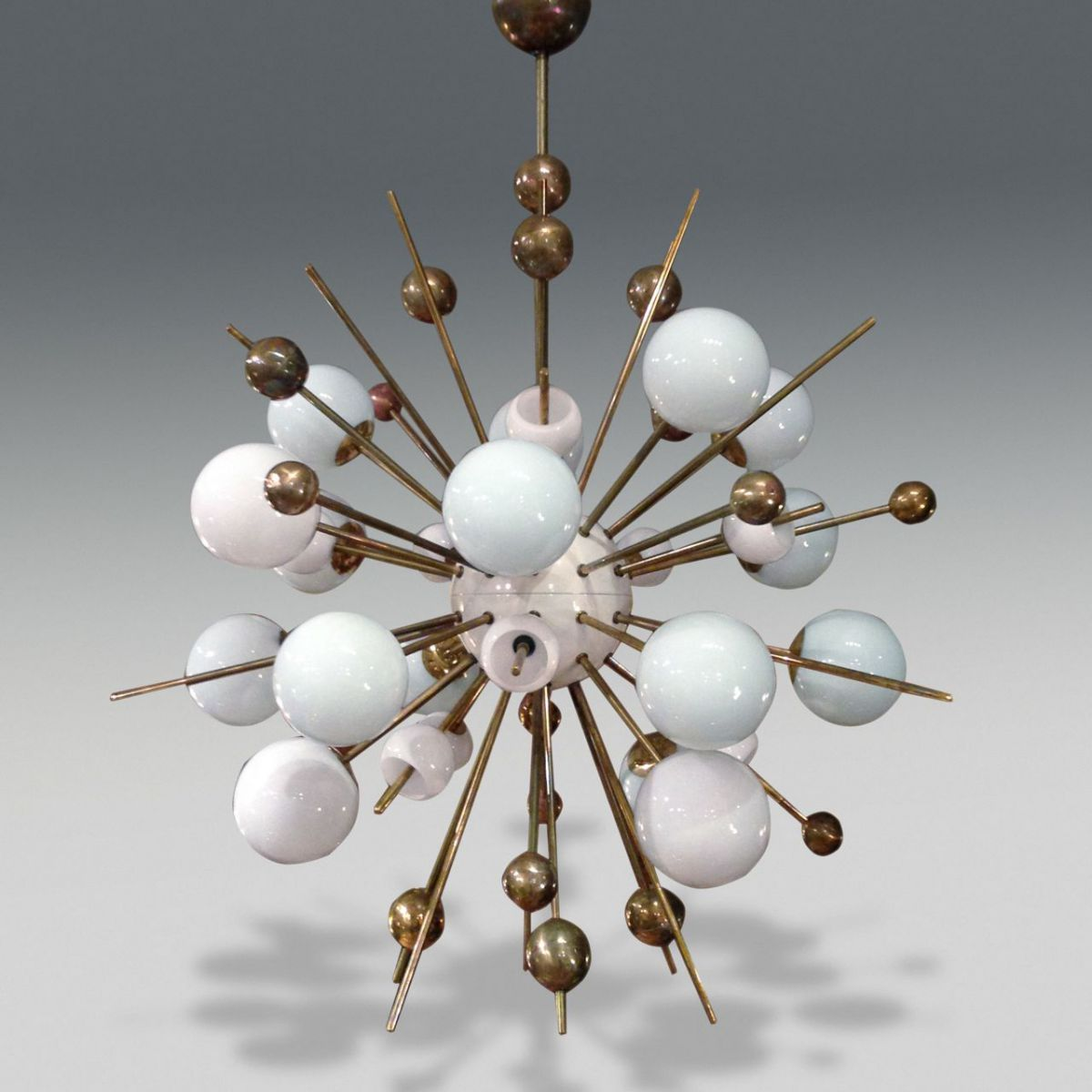 Sputnik chandelier stock christopher jones antiques for Sputnik chandelier